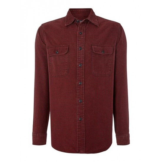 Ralph Lauren men's Custom Fit Plain Twill Shirt Red