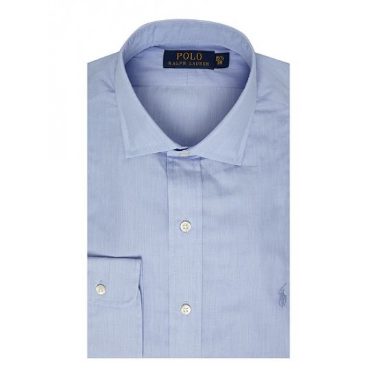 Ralph Lauren men's Regular Fit Cotton Dress Shirt Blue