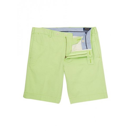 Ralph Lauren men's Slim Fit Stretch Military Shorts Lime