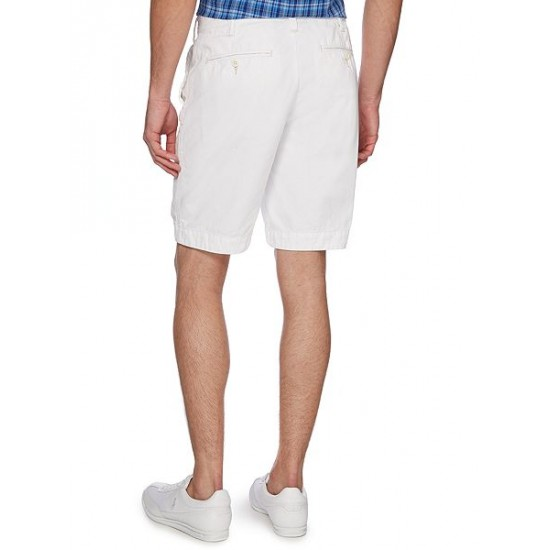 Ralph Lauren men's Relaxed-Fit Cotton Chino Shorts White