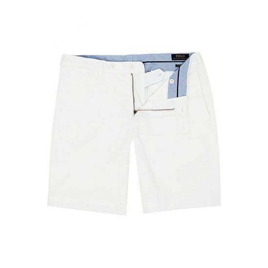 Ralph Lauren men's Slim Fit Hudson Shorts White