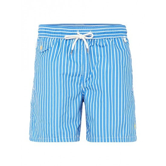 Ralph Lauren men's Butcher Stripe Shorts Blue
