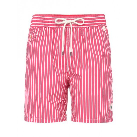 Ralph Lauren men's Butcher Stripe Shorts Pink