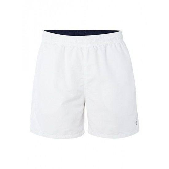 Ralph Lauren men's Classic Swim Shorts White