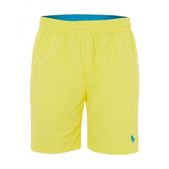 Ralph Lauren men's Mid Length Logo Swim Shorts Lemon