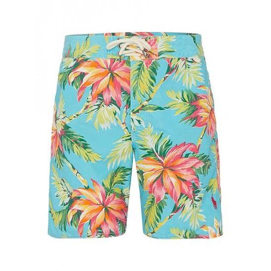 Ralph Lauren men's Palm Island Swim Shorts Light Blue