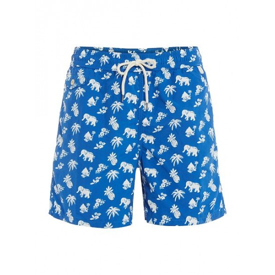 Ralph Lauren men's Traveler Swim Shorts Blue