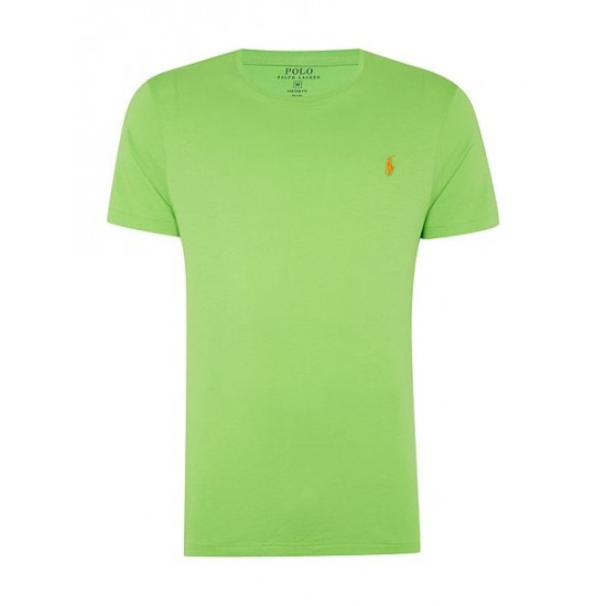 Ralph Lauren men's Custom Fit Crew Neck T Shirt Green