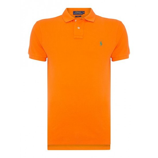 Ralph Lauren men's Short Sleeve Slim Fit Polo Shirt Orange