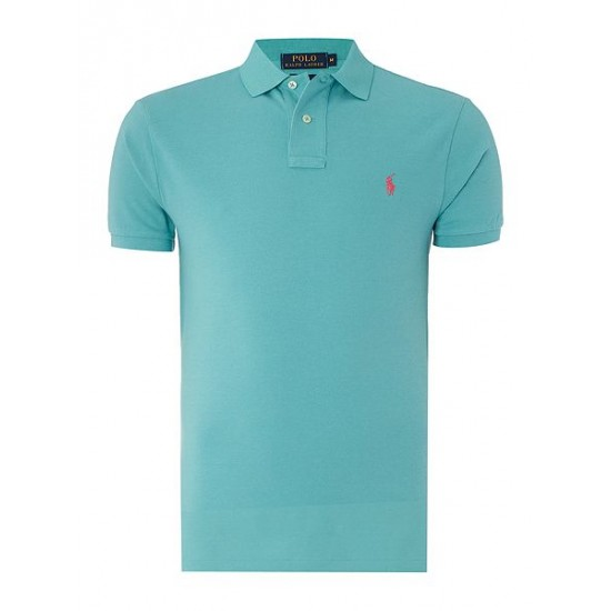 Ralph Lauren men's Slim Fit Basic Mesh Polo Mint
