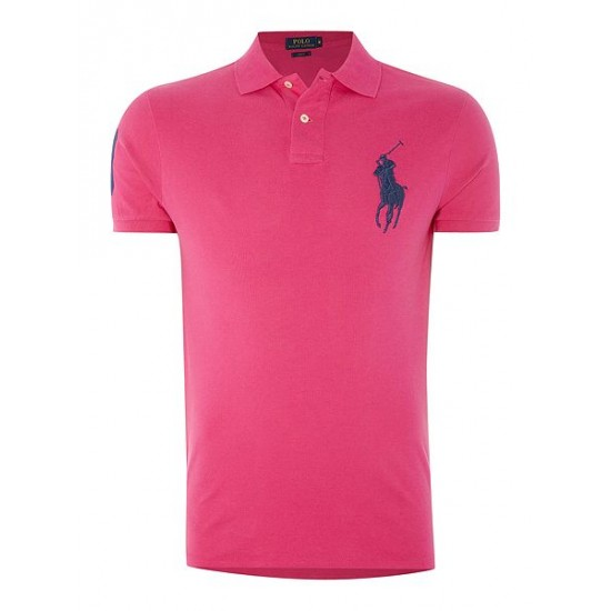 Ralph Lauren men's Big Polo Player Slim Fit Polo Pink