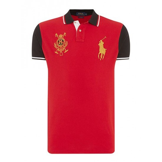 Ralph Lauren men's Chinese New Year Slim Fit Polo Shirt Red