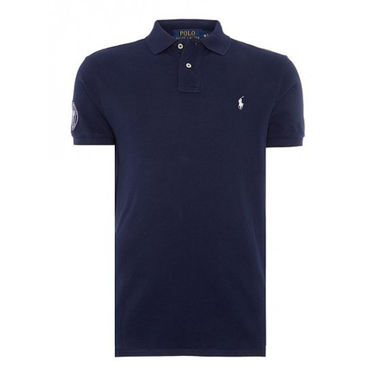 Ralph Lauren men's Wimbledon Basic Mesh Custom Fit Polo French Navy