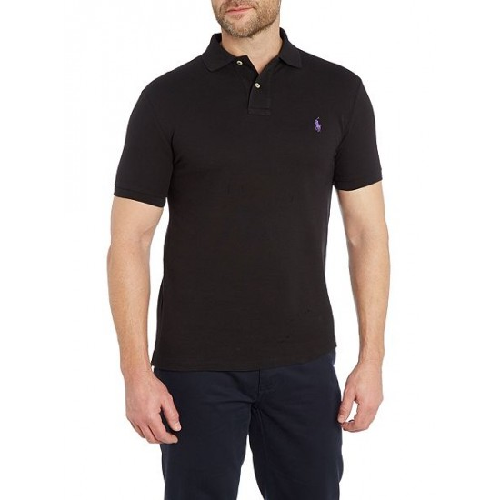 Ralph Lauren men's Short Sleeve Slim Fit Polo Shirt Black