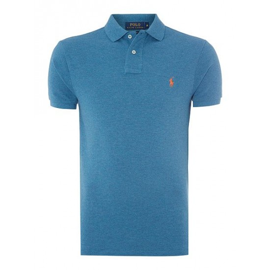 Ralph Lauren men's Slim Fit Basic Mesh Polo Marine