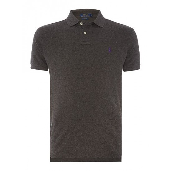 Ralph Lauren men's Custom Fit Short Sleeve Polo Shirt Slate