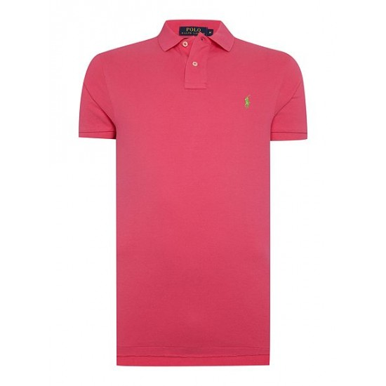 Ralph Lauren men's Custom Fit Short Sleeve Polo Shirt Pink