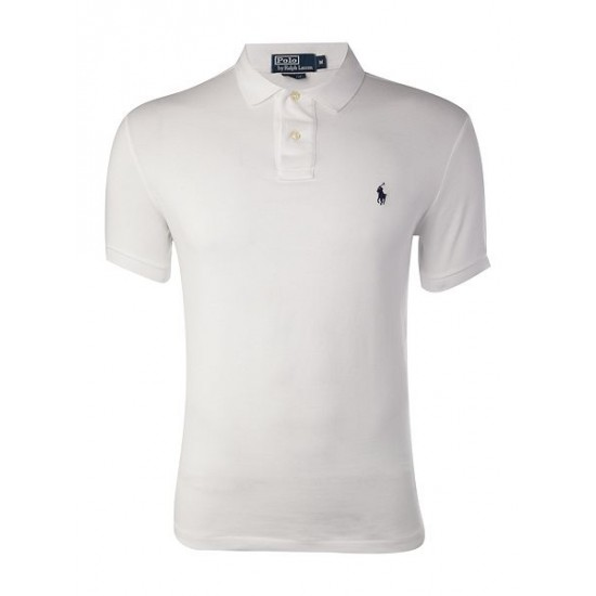 Ralph Lauren men's Short Sleeve Slim Fit Polo Shirt White