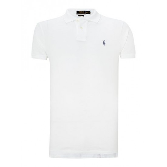 Ralph Lauren men's Custom Fit Mesh Polo Shirt White For Sale