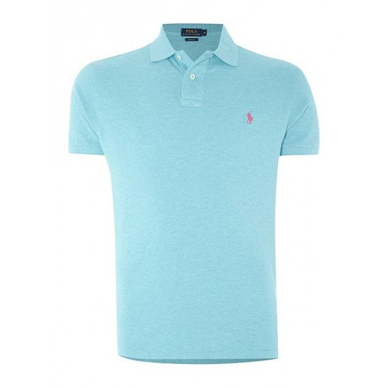 Ralph Lauren men's Custom Fit Basic Mesh Polo Turquoise