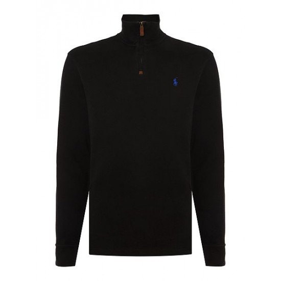 Ralph Lauren men's Cotton Turtleneck Jumper Black