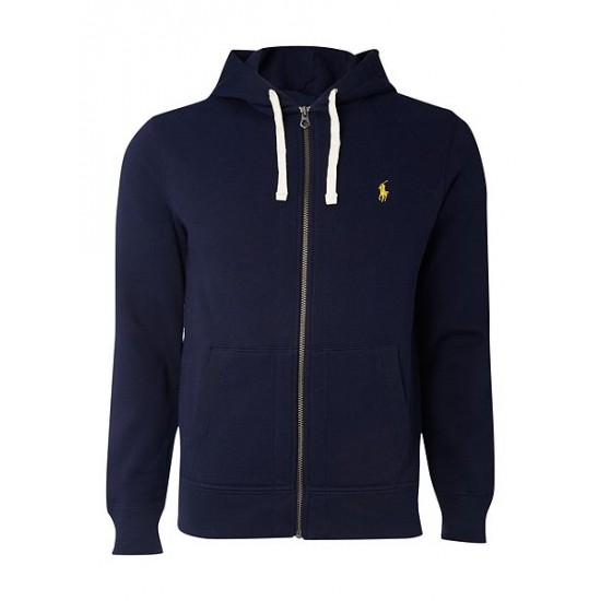 Ralph Lauren men's Zip Through Cotton Blend Hoody Navy