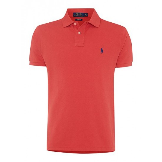 Ralph Lauren men's Custom Fit Mesh Polo Shirt Red Online
