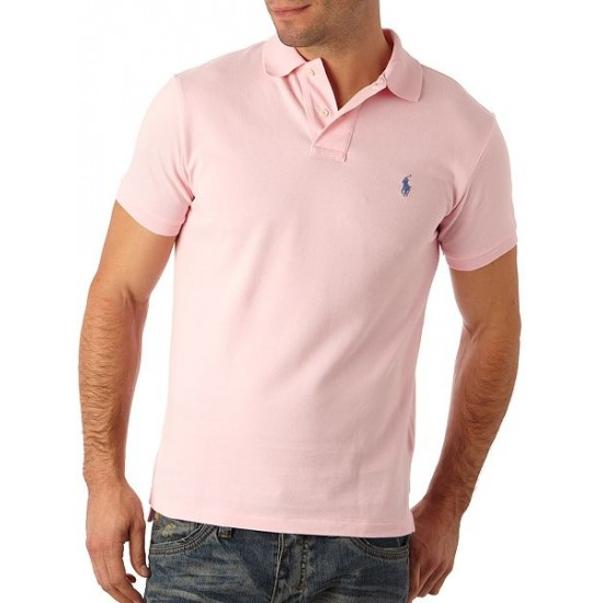 Ralph Lauren men's Short Sleeve Slim Fit Polo Shirt Pink
