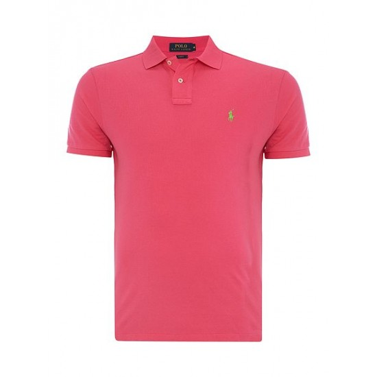 Ralph Lauren men's Slim Fit Basic Mesh Polo Pink