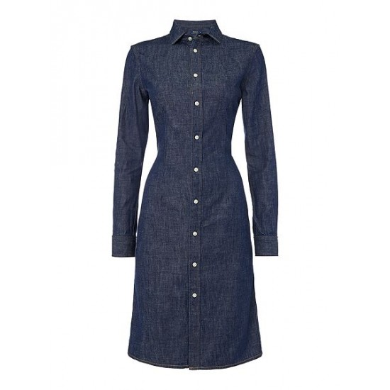 Ralph Lauren Women's Denim Shirt Dress Denim