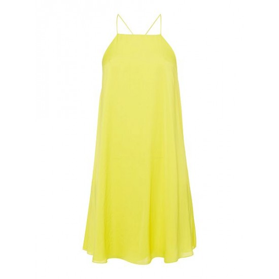 Ralph Lauren Women's Dayana Silky Dress Yellow