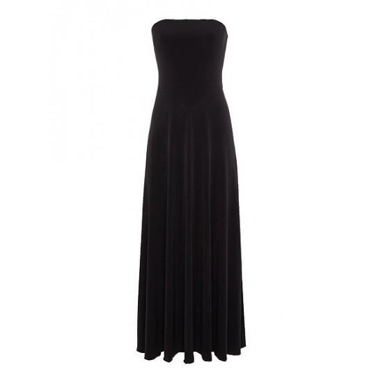 Ralph Lauren Women's Strapless Maxi Dress Black
