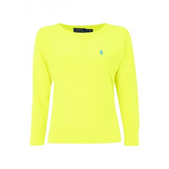 Ralph Lauren Women's Long Sleeve Crew Neck Sweater Yellow