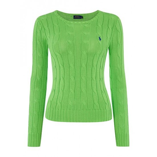 Ralph Lauren Women's Julianna Long Sleeve Sweater Green