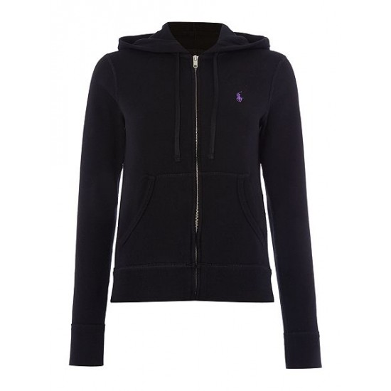 Ralph Lauren Women's Martine Hooded Top Black Uk Sale