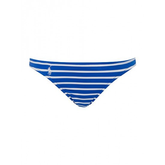 Ralph Lauren Women's Bengal Stripes Taylor Hipster Bikini Brief Blue