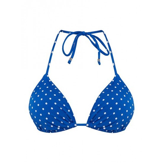 Ralph Lauren Women's Pin Dots Ricky Bra Blue