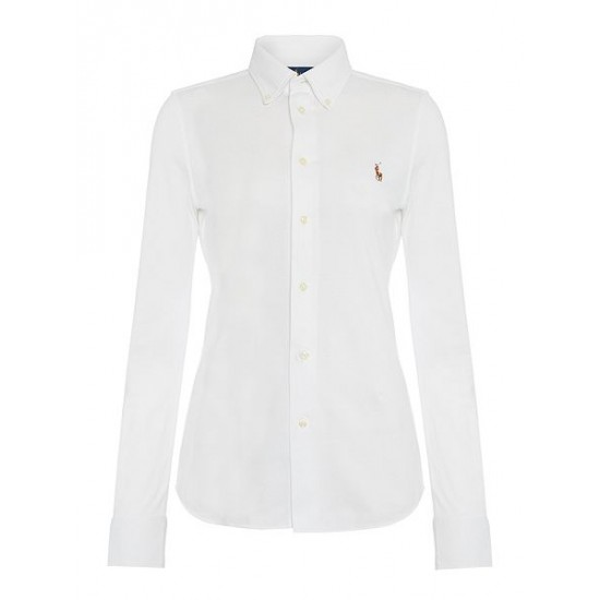 Ralph Lauren Women's Heidi Oxford Stretch Shirt White