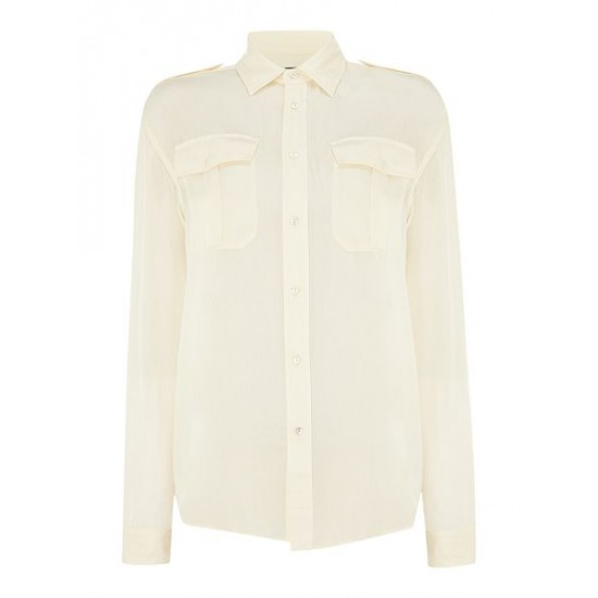 Ralph Lauren Women's Pippa Long Sleeved Shirt Cream