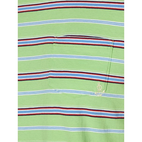 Ralph Lauren Women's Short Sleeved Striped T Shirt Light Green